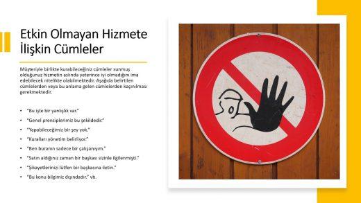 Müşteriler ile Diyalog Kurarken Yasaklar